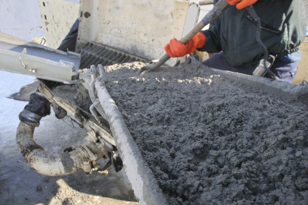 Process using volumetric concrete